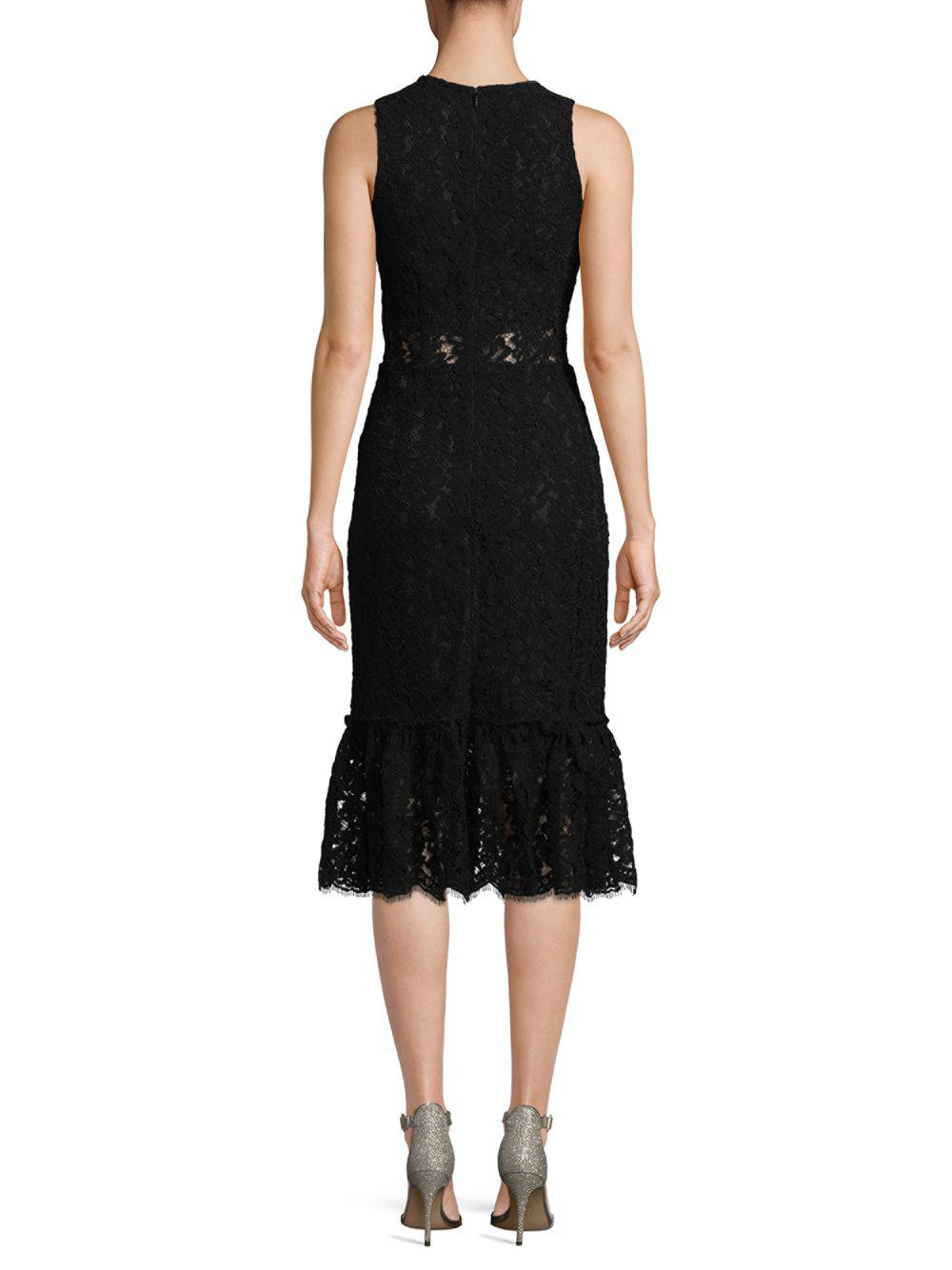 b6d166df1e6f Alexia Admor - Black Lace Midi Dress - Lyst. View fullscreen