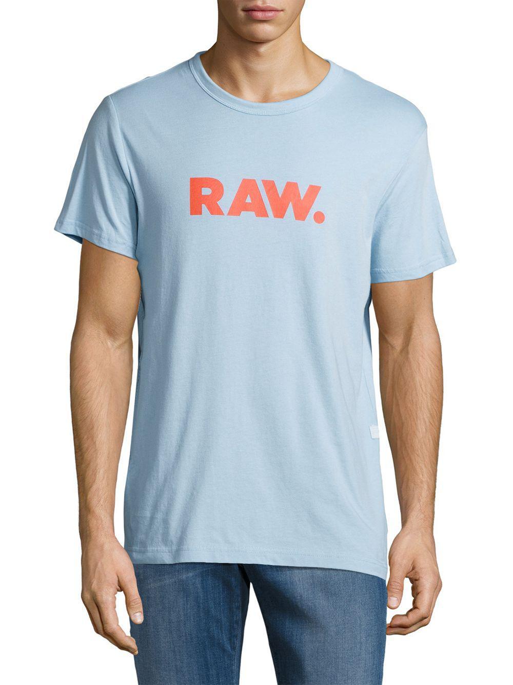 0c0ff5f987 Lyst - G-Star Raw Horlorn Short Sleeved Tee in Blue for Men