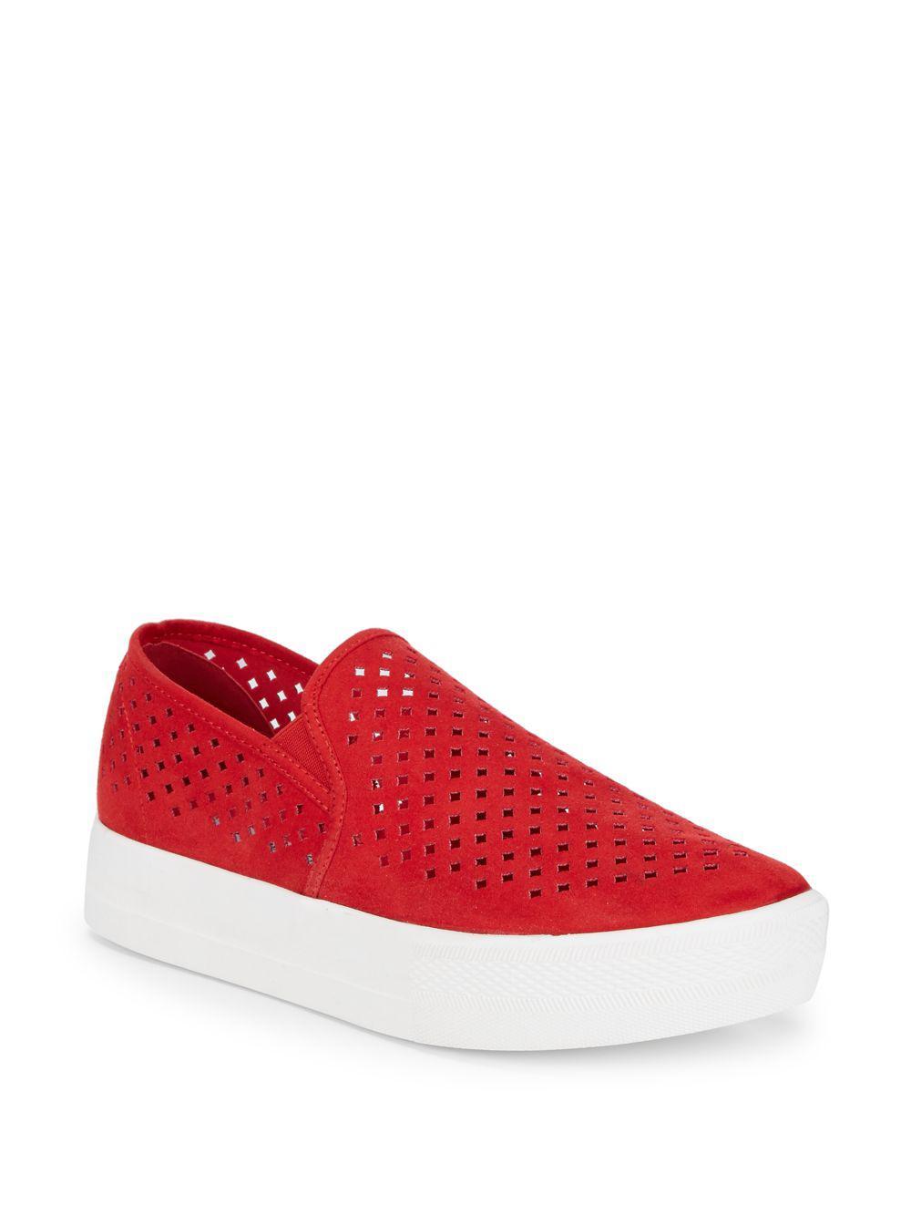9bb41b6c102 Lyst - Steve Madden Ivette Slip-on Sneakers in Red