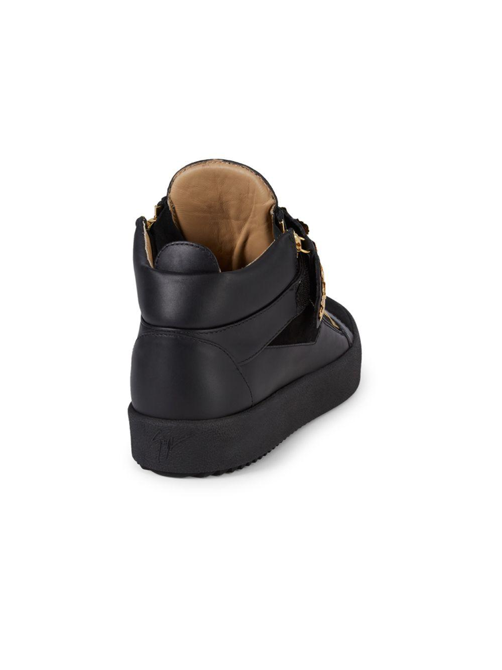 7ead4f39d Giuseppe Zanotti - Black Goldleaf High-top Sneakers - Lyst. View fullscreen