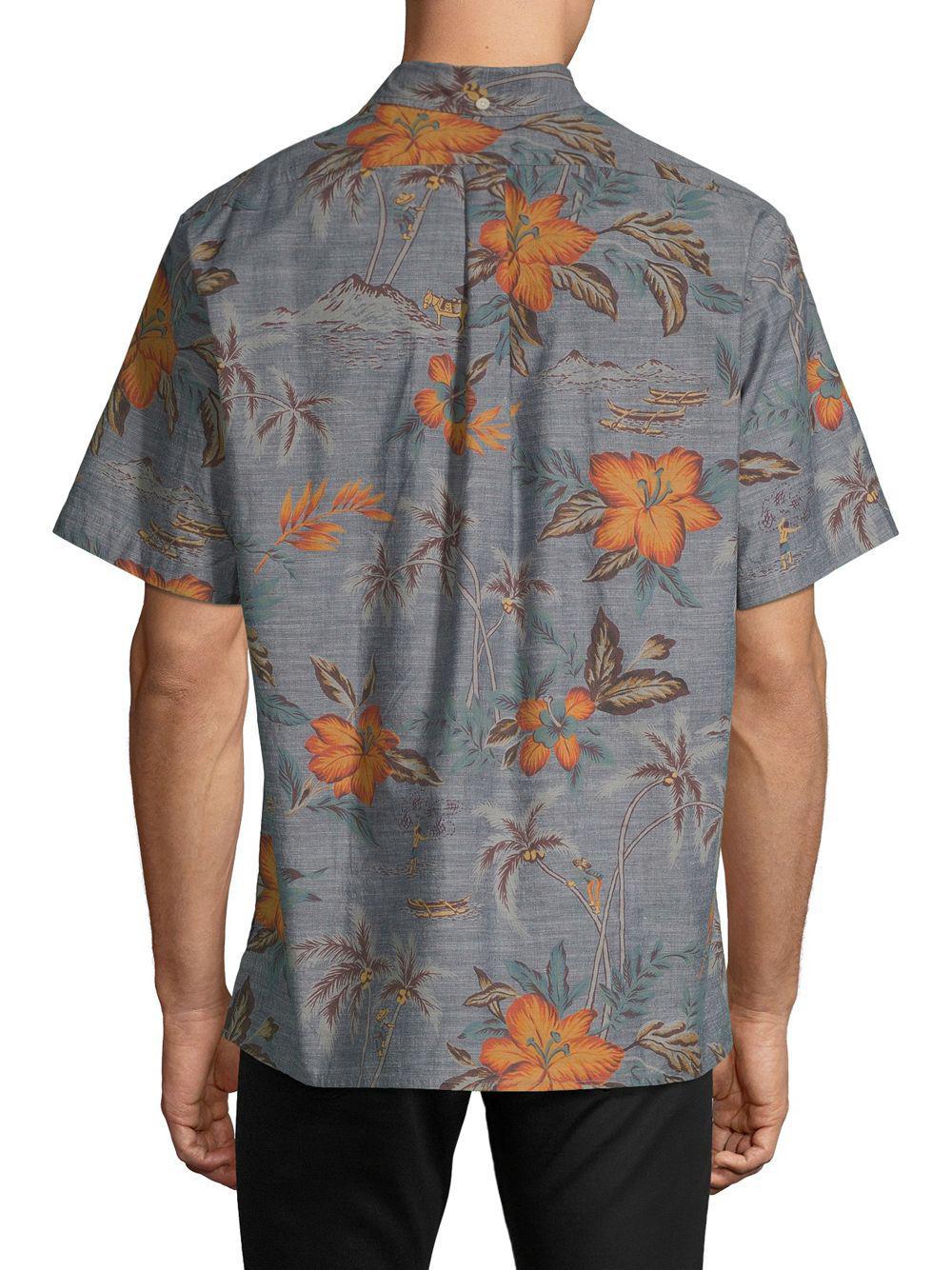 462e07ede Reyn Spooner - Blue Coco De Hermanos Cotton Button-down Shirt for Men - Lyst.  View fullscreen