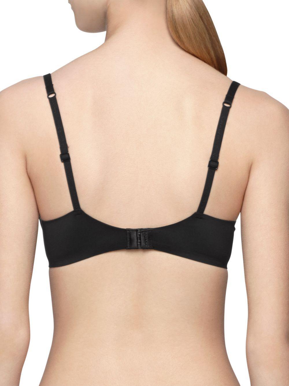b1f9061ae1ba7 Calvin Klein - Black Perfectly Fit Plunge Racerback Bra - Lyst. View  fullscreen