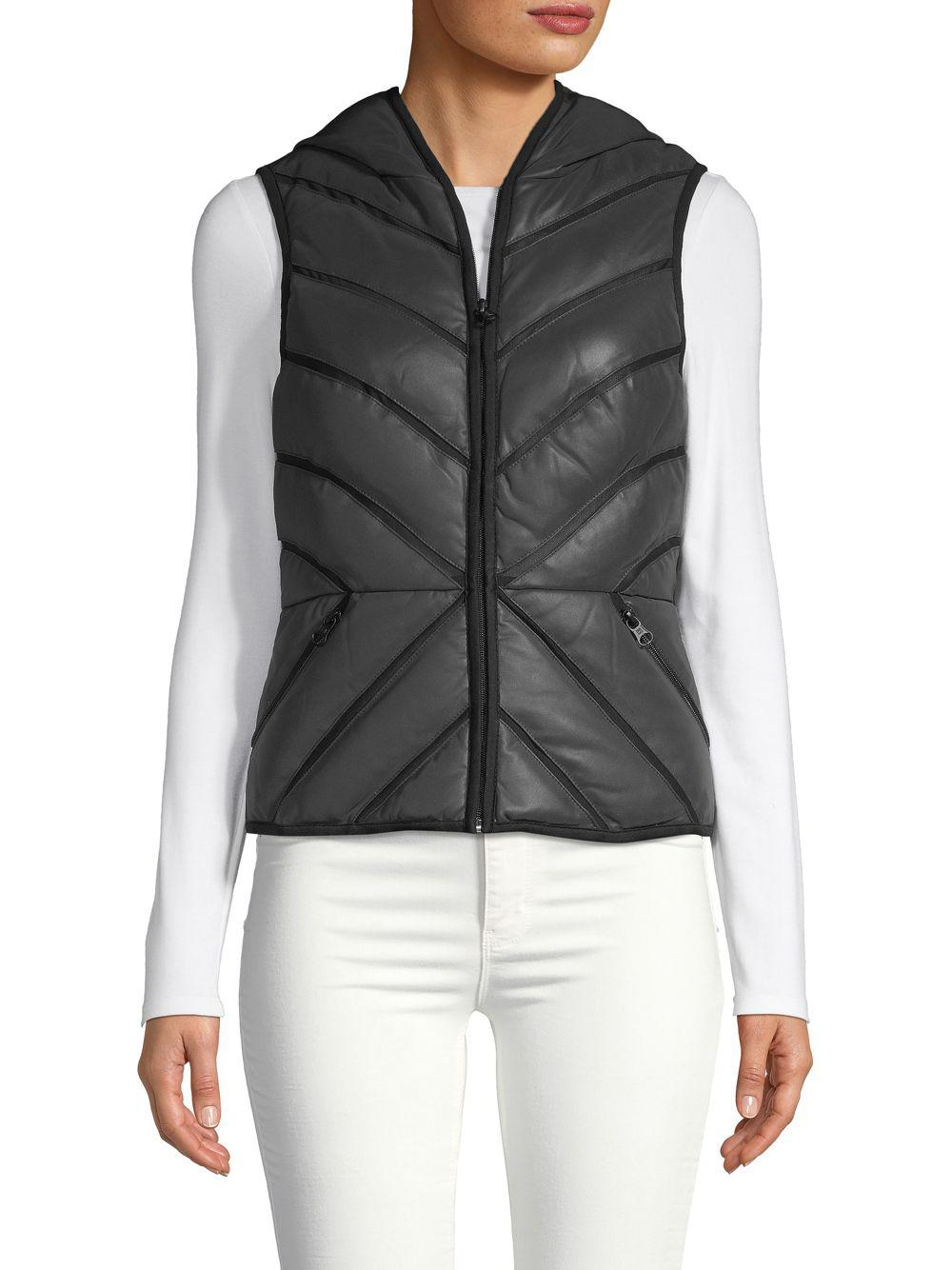 c0a8c0c68bca Lyst - BLANC NOIR Mesh Inset Reflective Puffer Vest in Black