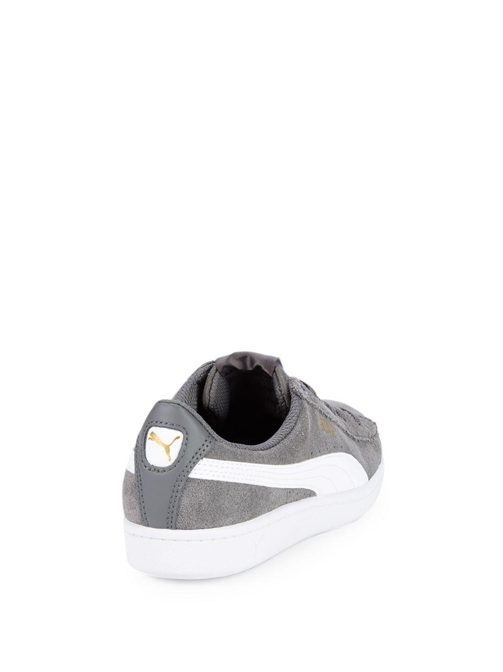 518396f85ebd PUMA - Gray Vikky Suede Low-top Sneakers for Men - Lyst. View fullscreen