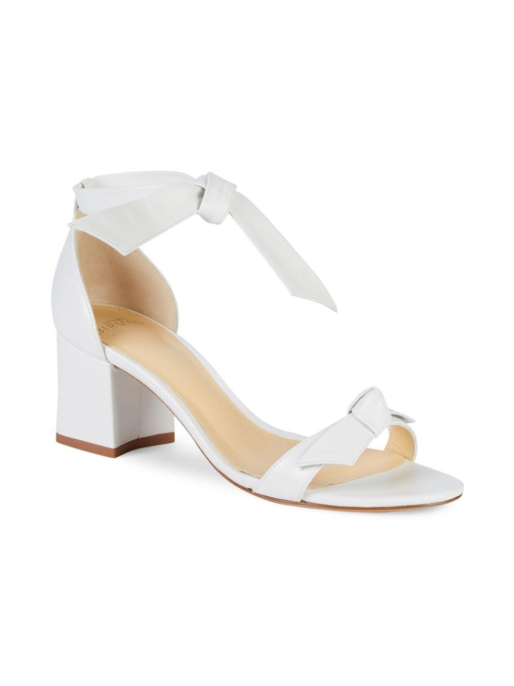 f563521ed62 Alexandre Birman Clarita Leather Heeled Sandals in White - Lyst