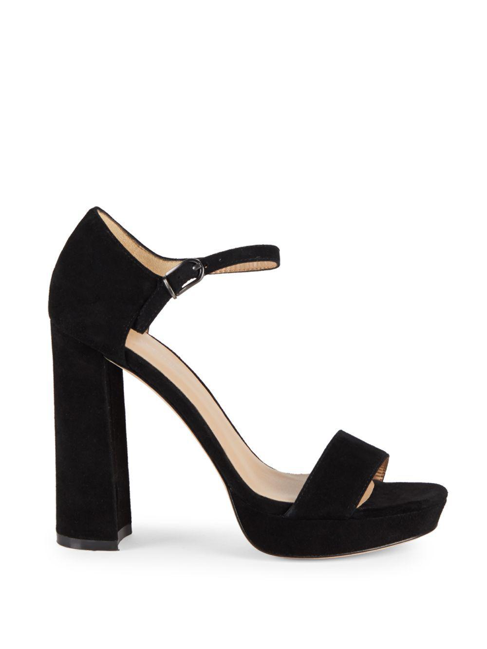 e52e77c45126fa Lyst - Pour La Victoire Yvette Block Heel Leather Sandals in Black