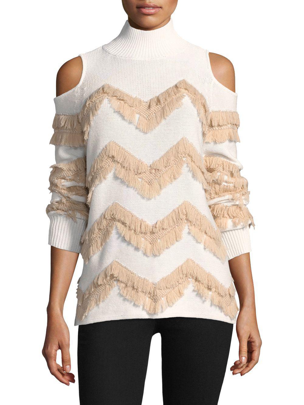 e32b57380a4a86 Zoe Jordan. Women s High Hawking Fringed Cashmere Sweater.  585  175 From  ...