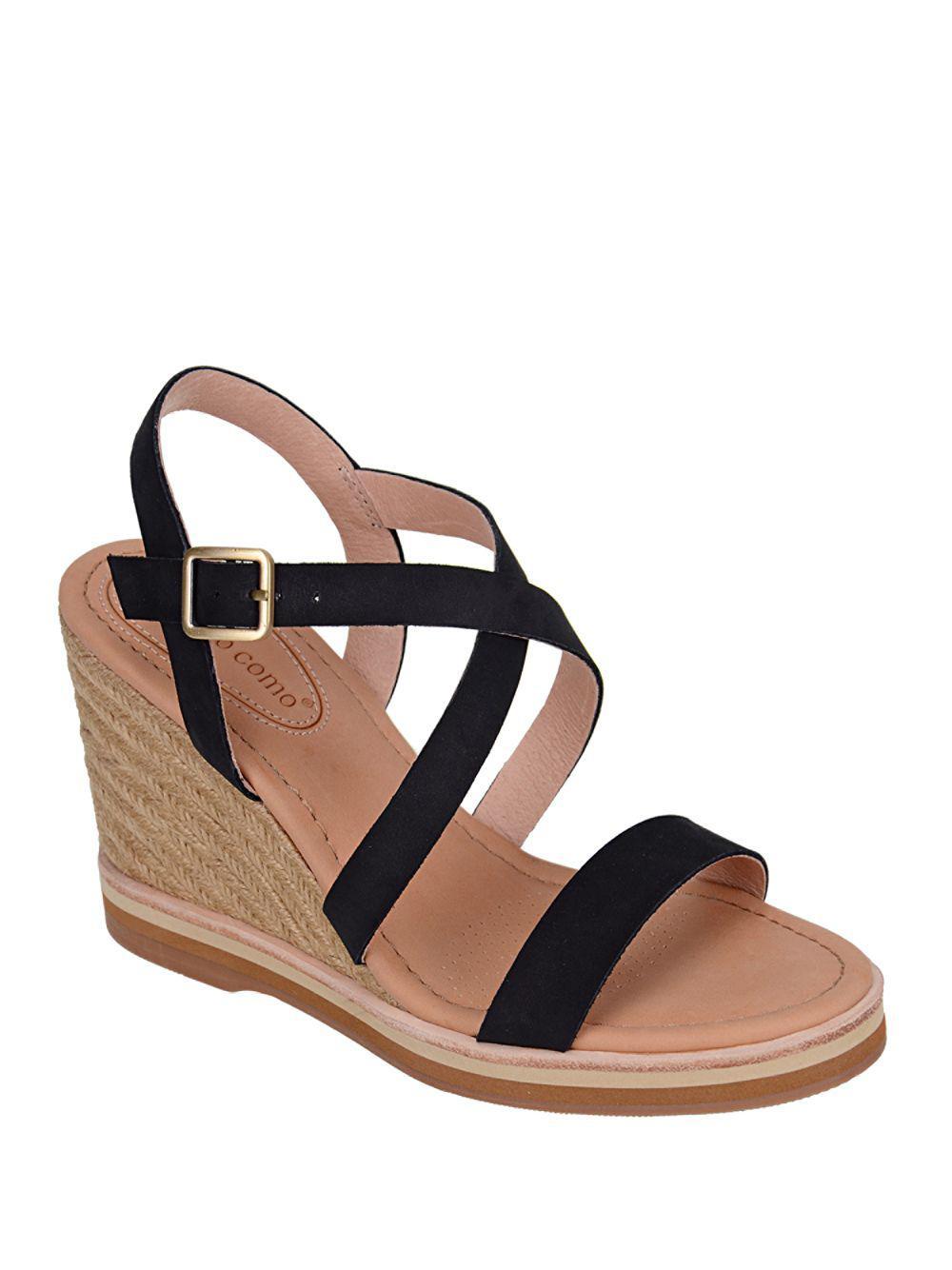 3b0de67ac13 Lyst - Corso Como Gladis Espadrille Wedge Sandals in Black