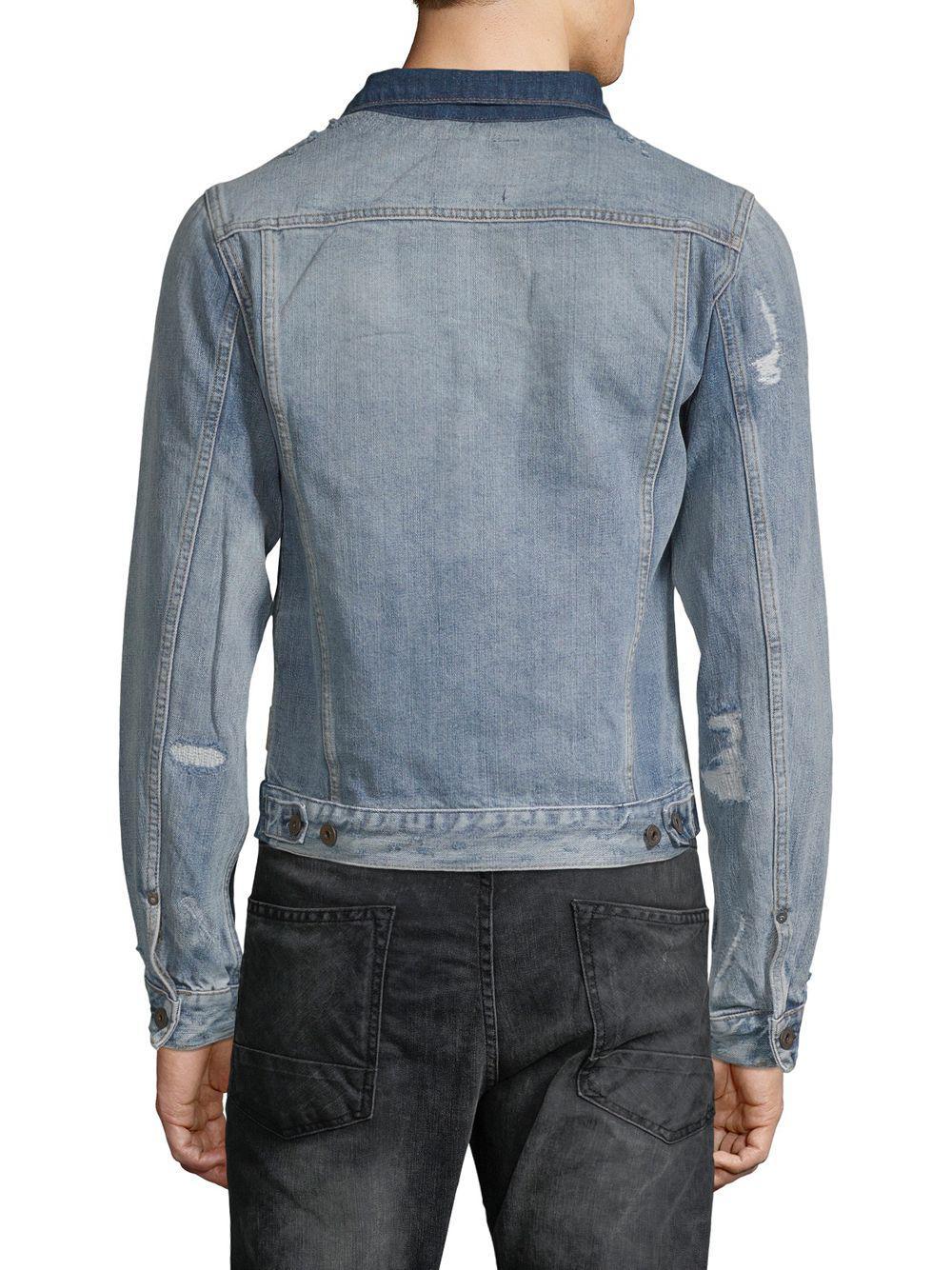 b807aa5dd1a ... Blue Heroes Customized Denim Jacket for Men - Lyst. View fullscreen