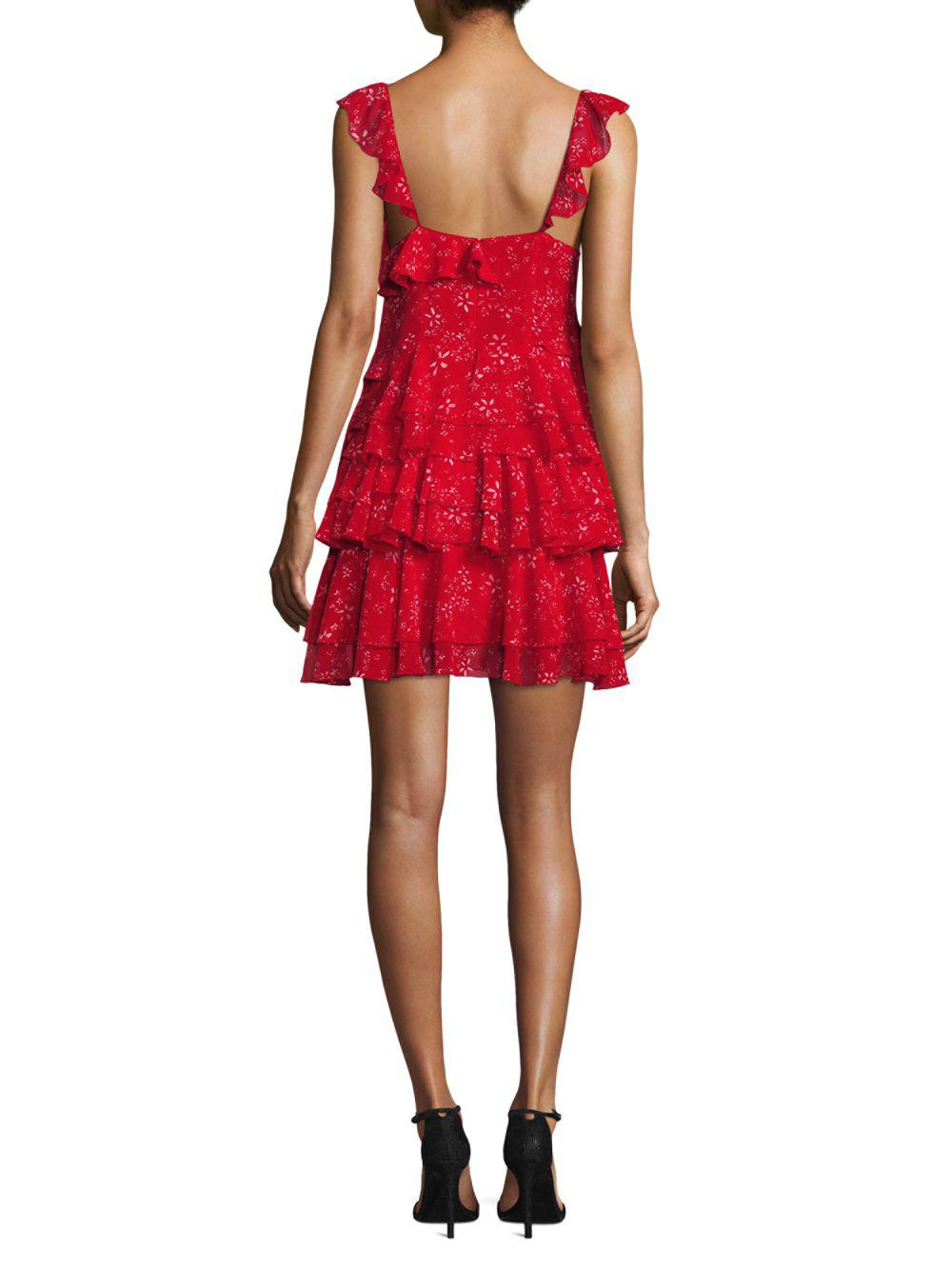 71995c639 The Kooples - Red Moon Flower Dress - Lyst. View fullscreen
