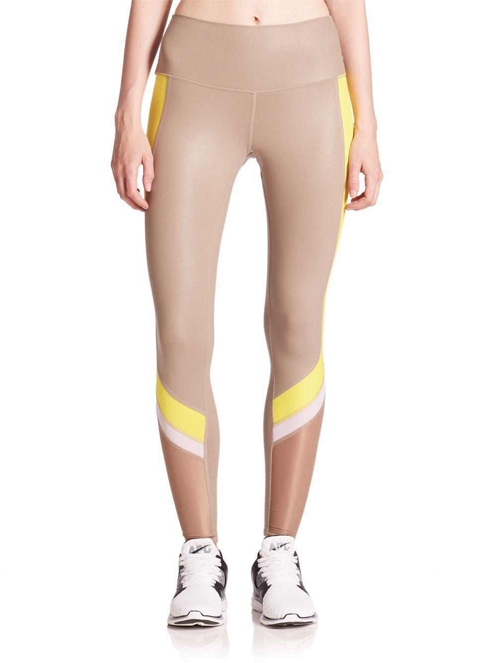 bff51913b00c5a Alo Yoga Elevate Paneled Leggings in Natural - Lyst