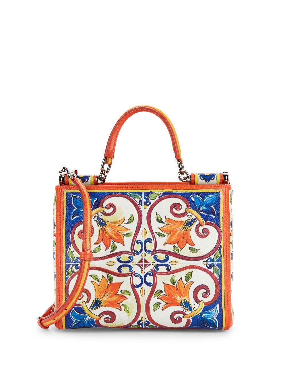 c168acf616 Lyst - Dolce   Gabbana Mini Leather Crossbody Bag