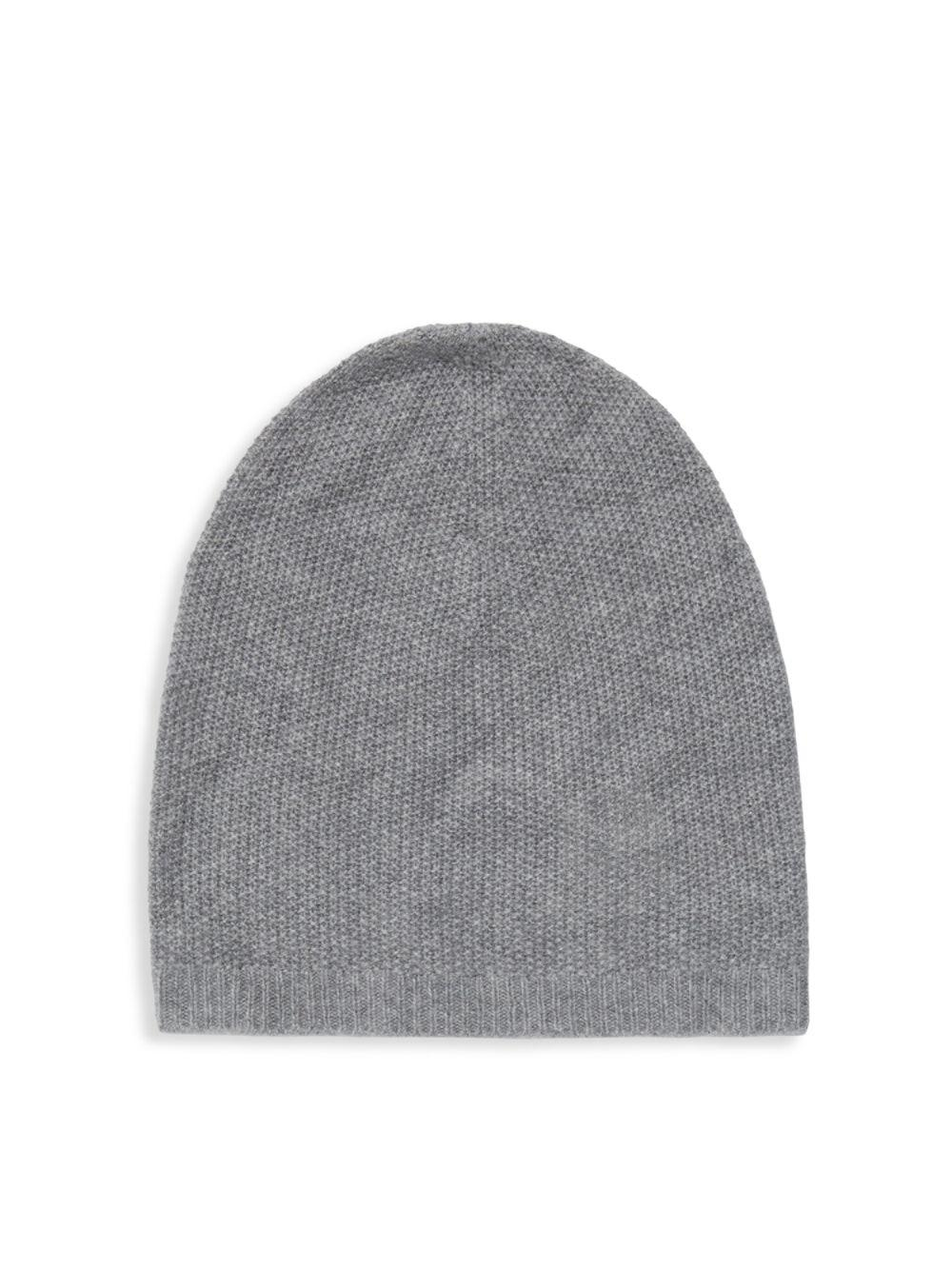 bc3facc04b087 Lyst - Saks Fifth Avenue Slouchy Pineapple Cashmere Beanie in Gray ...