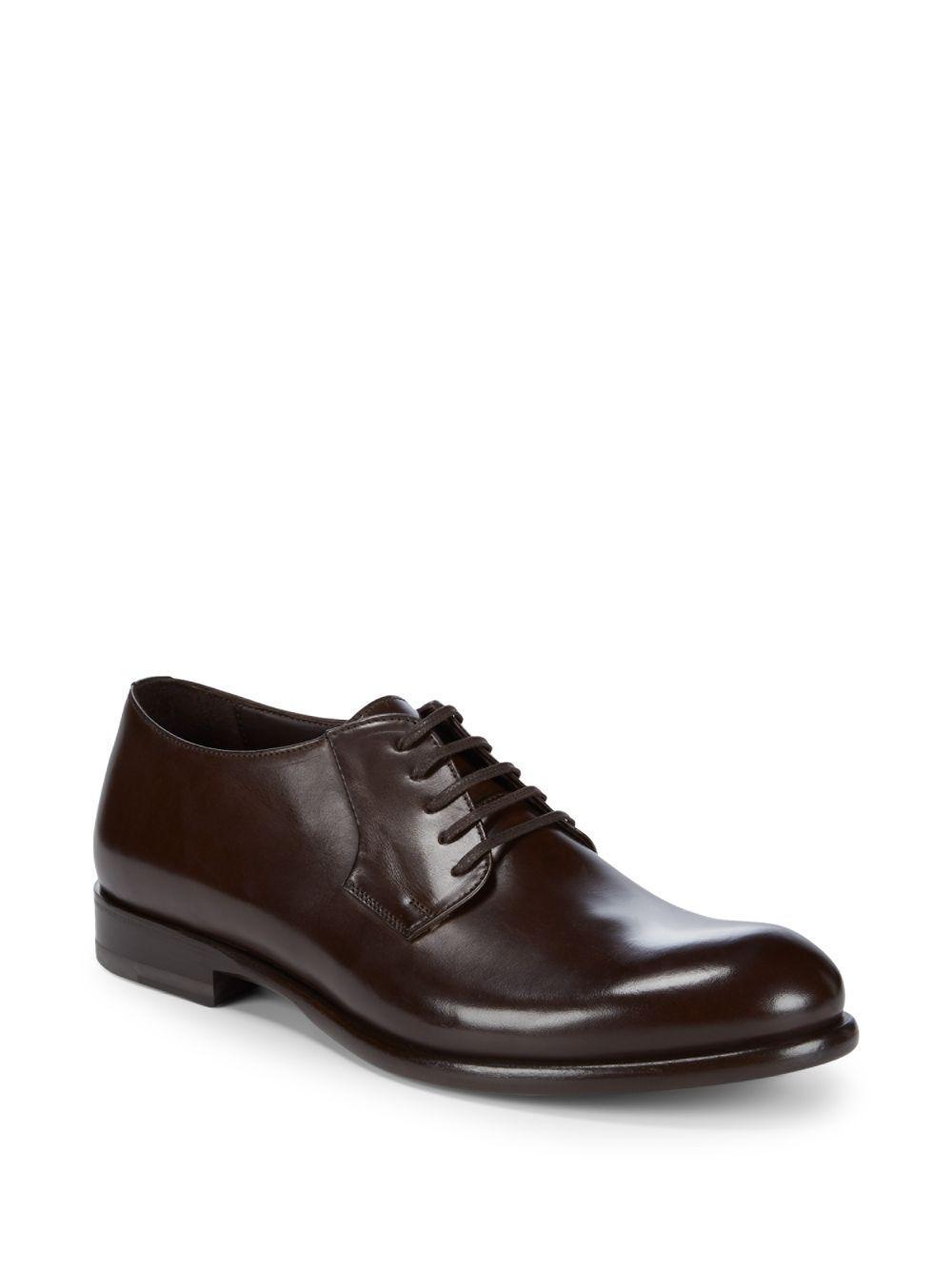 Men's Almeria Leather Off-Center Lace-Up Dress Shoes bi9ILUhQ2U
