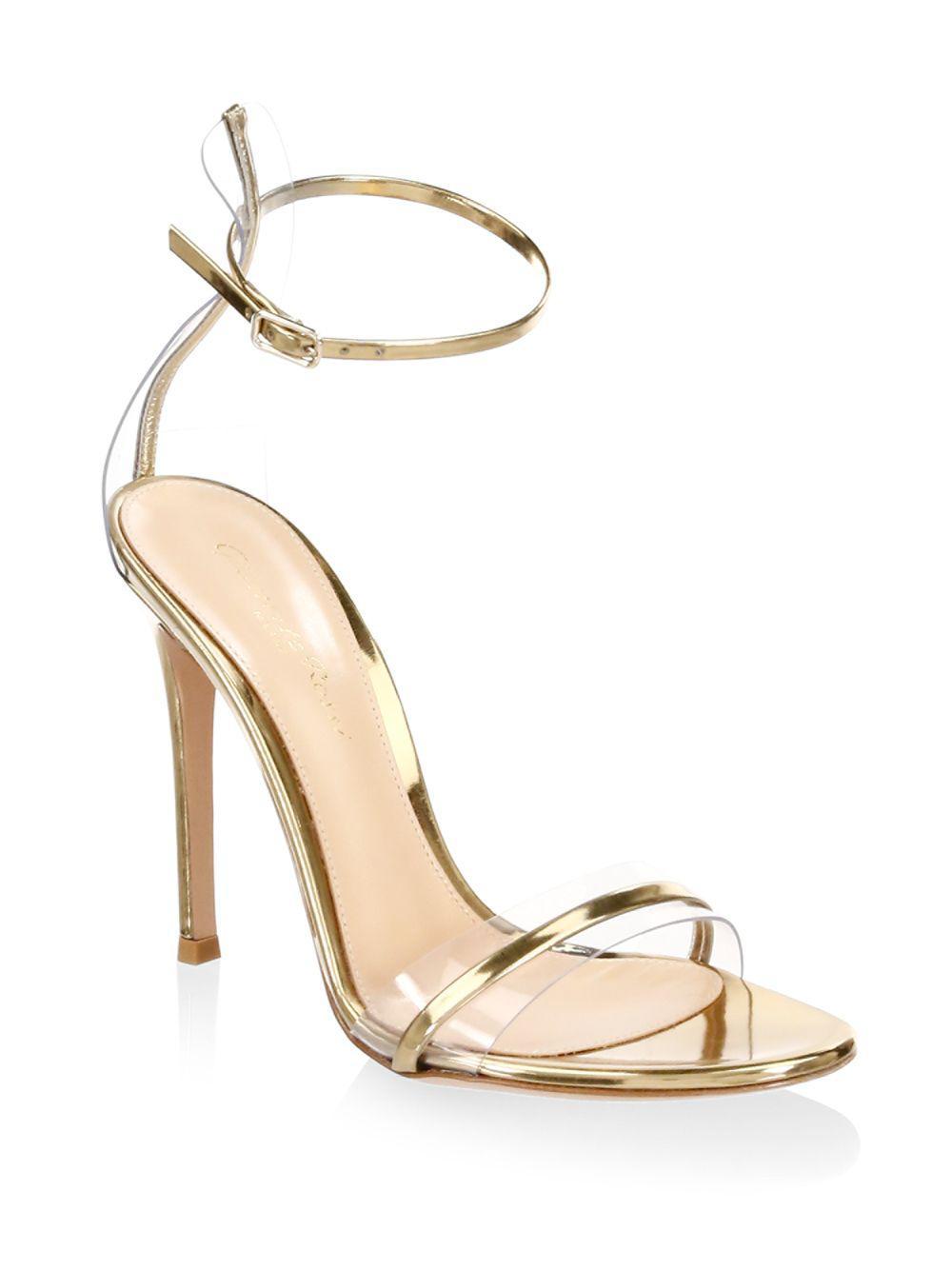 ed5bf3f37609f6 Lyst - Gianvito Rossi Portofino Ankle-strap Sandals in Metallic ...