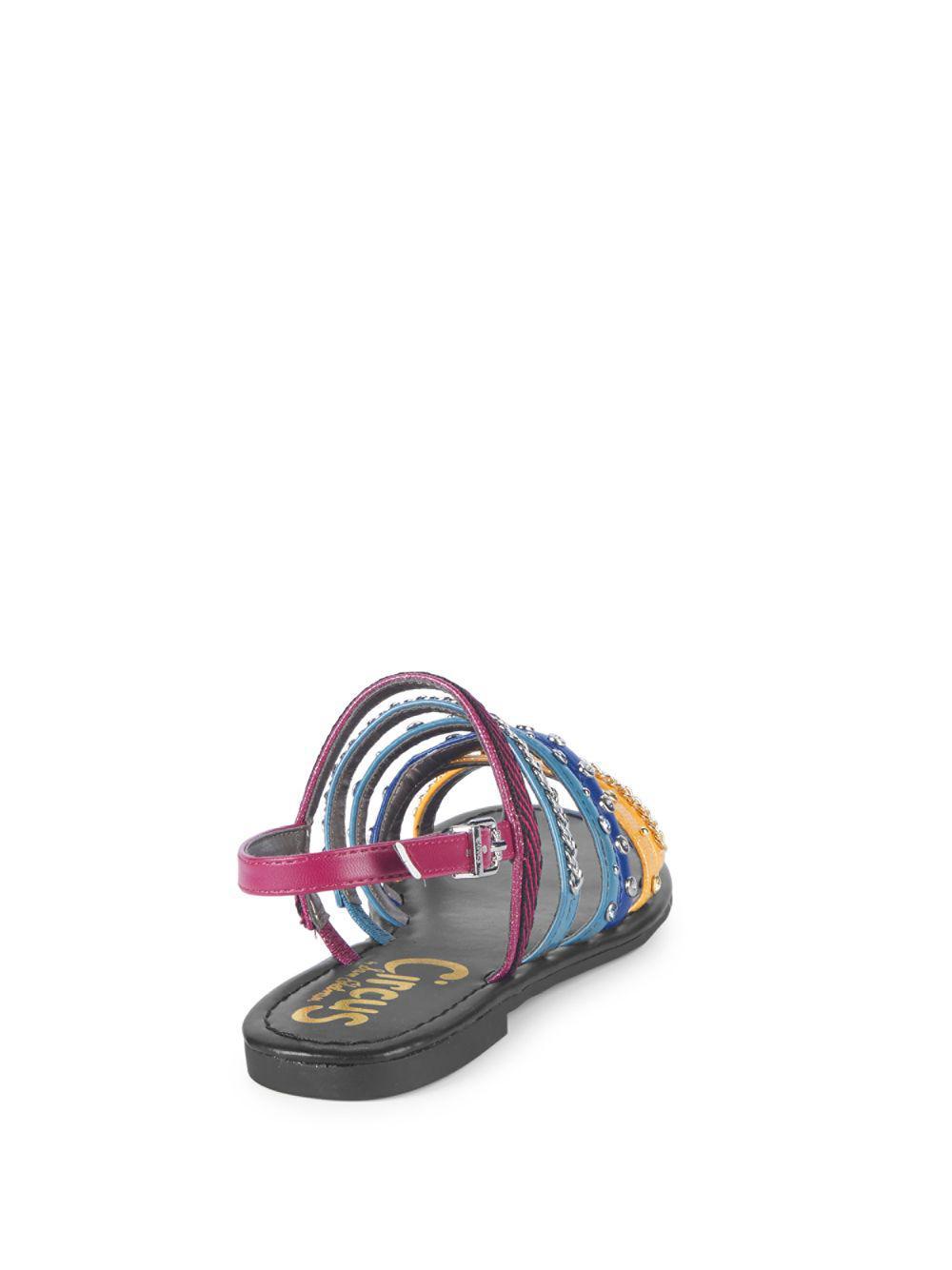 6da53f8f6577 Lyst - Circus by Sam Edelman Bev Strappy Flat Sandals in Blue
