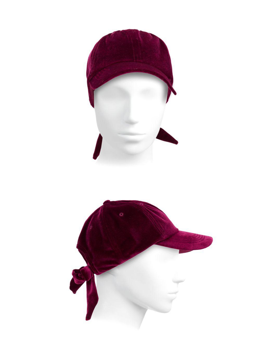 164ed3de953 San Diego Hat Company - Multicolor Velvet Bow Back Baseball Cap - Lyst.  View fullscreen