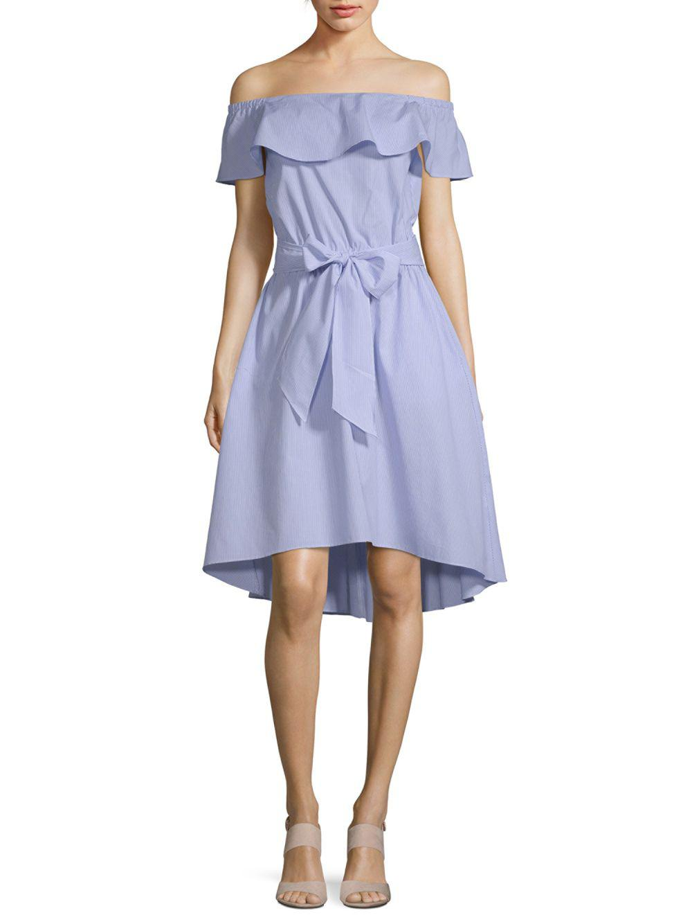 Lyst - Saks Fifth Avenue Ruffle Off-the-shoulder Dress in Blue