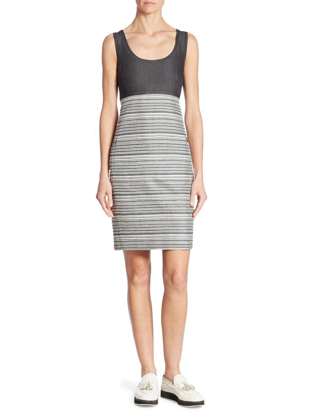 8ff0826b13 Akris Sleeveless Striped Dress in Black - Save 2% - Lyst