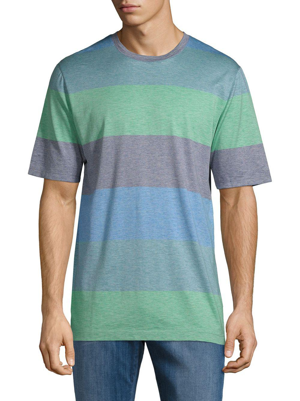 0b832350dd8 Lyst - Paul   Shark Striped Crewneck Cotton Tee for Men