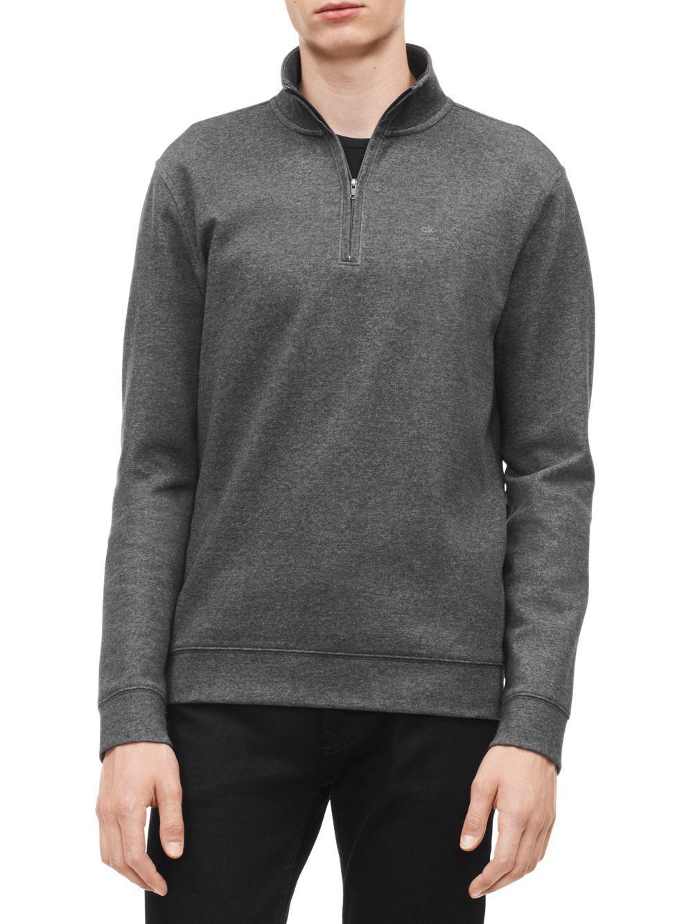 110684d951ab1 Calvin Klein The Classic Quarter-zip Sweater in Gray for Men - Lyst