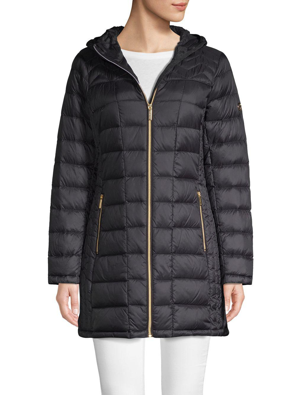 cd195625501bb Lyst - Michael Michael Kors Packable Quilted Jacket in Black