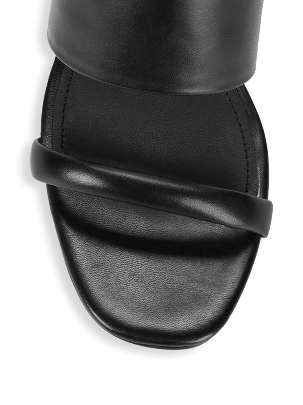 6fff7142b8eb Lyst - Donna Karan Gaby Lucite Wedge Sandals in Black - Save 33%