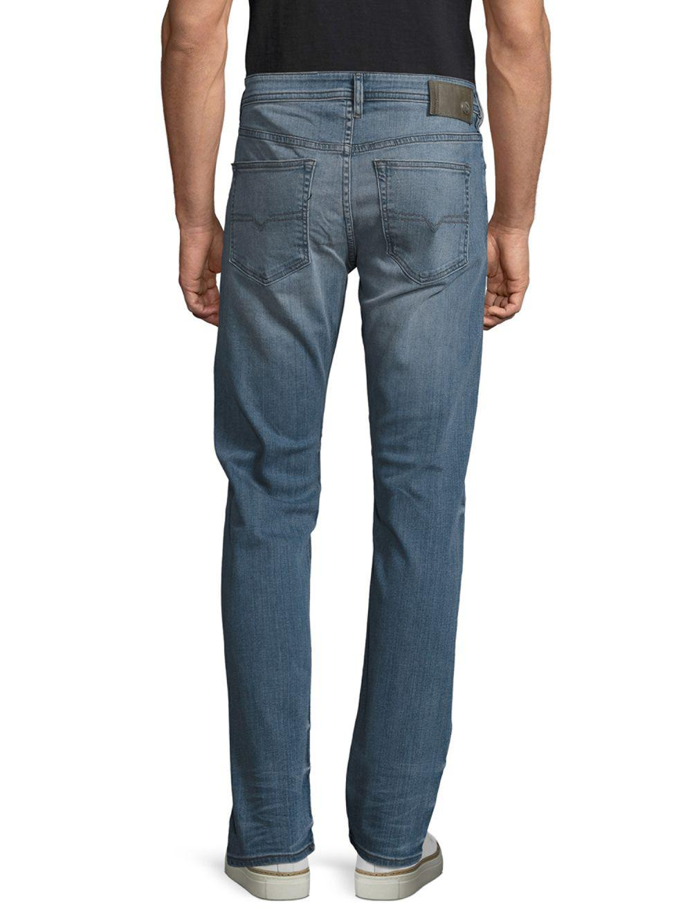 589dbc0cad DIESEL - Blue Buster Distressed Straight Leg Jeans for Men - Lyst. View  fullscreen