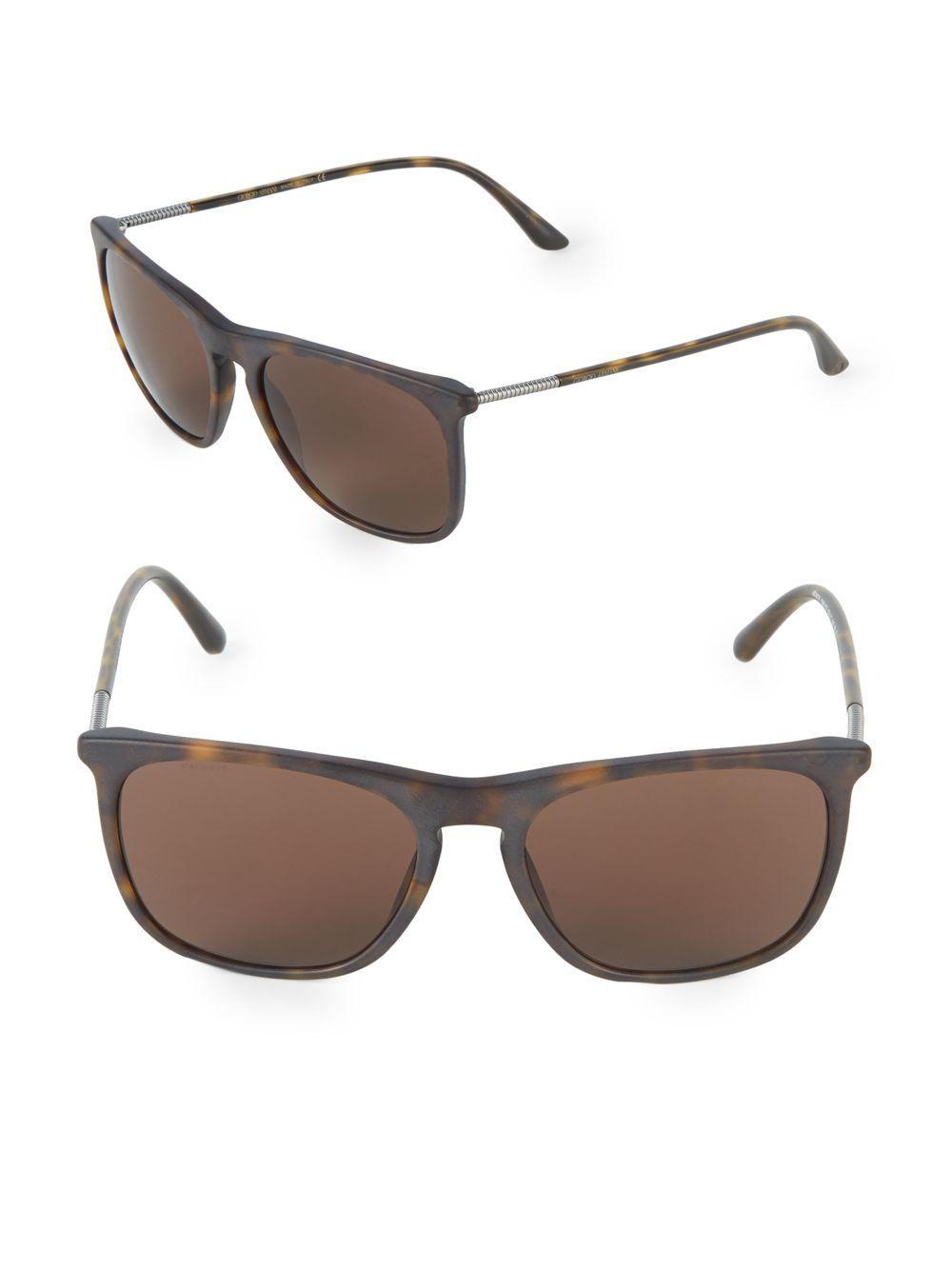 6b312a3232f0 Lyst - Giorgio Armani 55mm Square Sunglasses in Brown