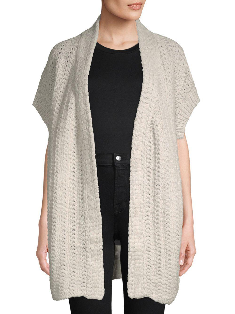 Inhabit - Multicolor Open Front Crochet Cardigan - Lyst. View fullscreen c228af473