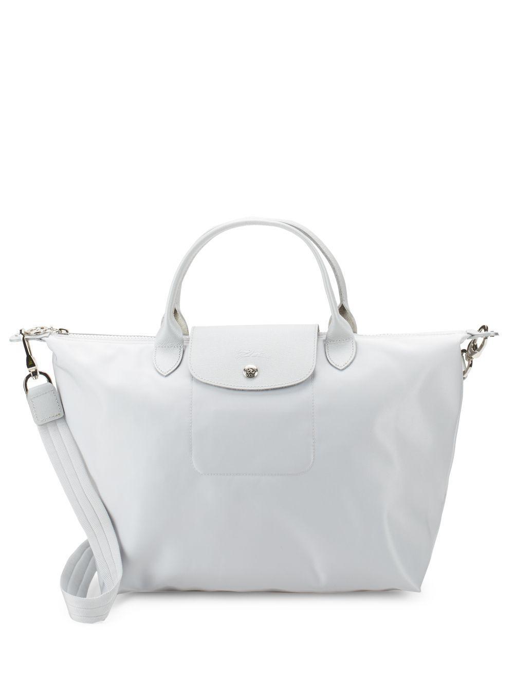 eb1a1cecfc1b Longchamp Le Pliage Neo Medium Top Handle Bag in Metallic - Lyst
