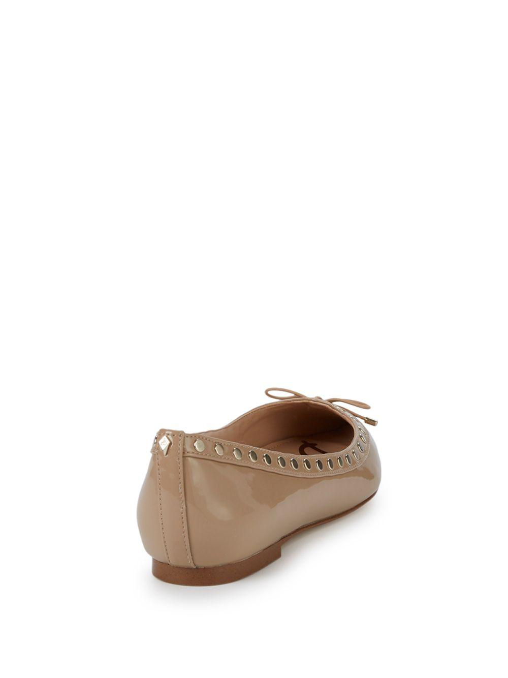 86a91c40d6d724 Lyst - Sam Edelman Ralf Point Leather Flats in Natural