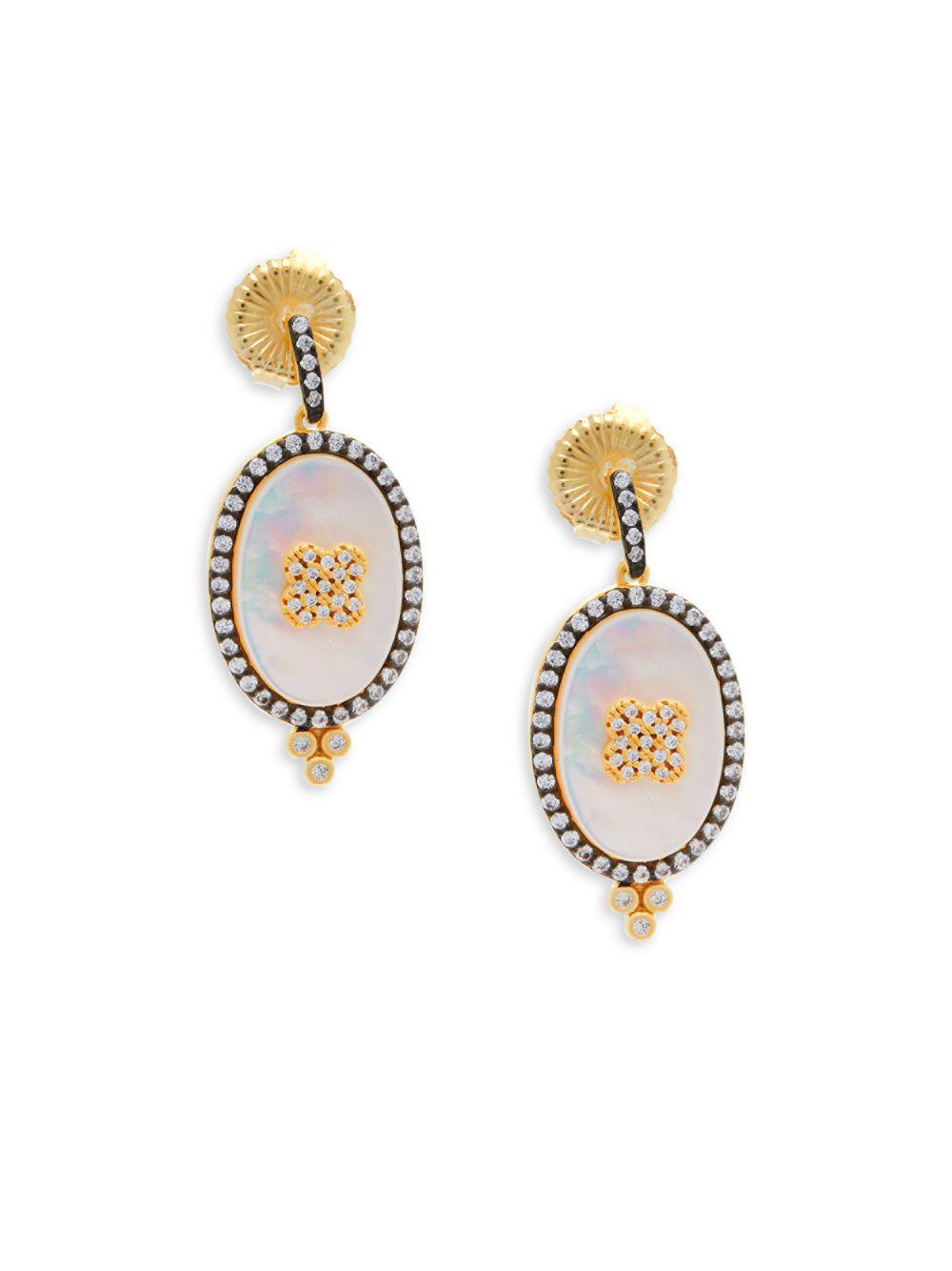 Freida Rothman Oversized Pave Clover Stud Earrings X2kXtZZu0