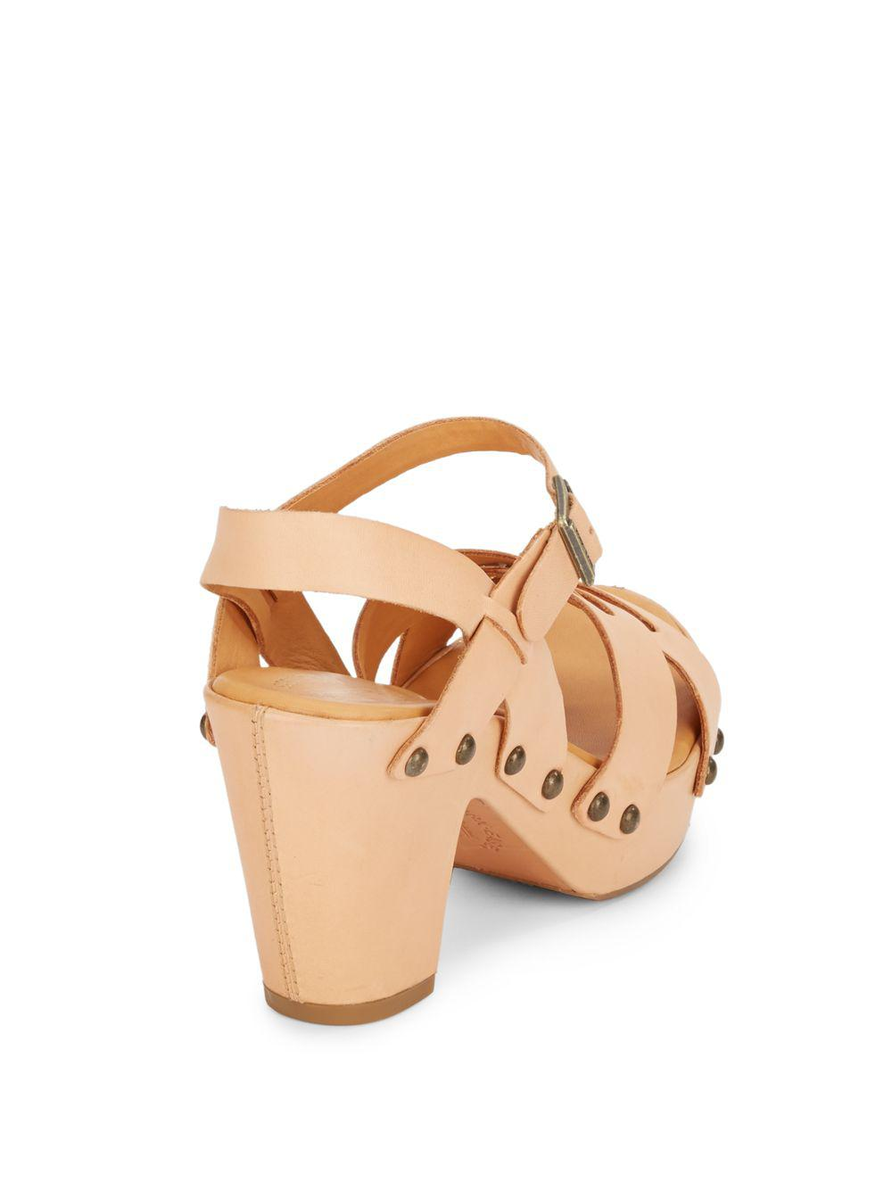 Lyst Kork Ease Deborah Leather Studded Sandals In Brown