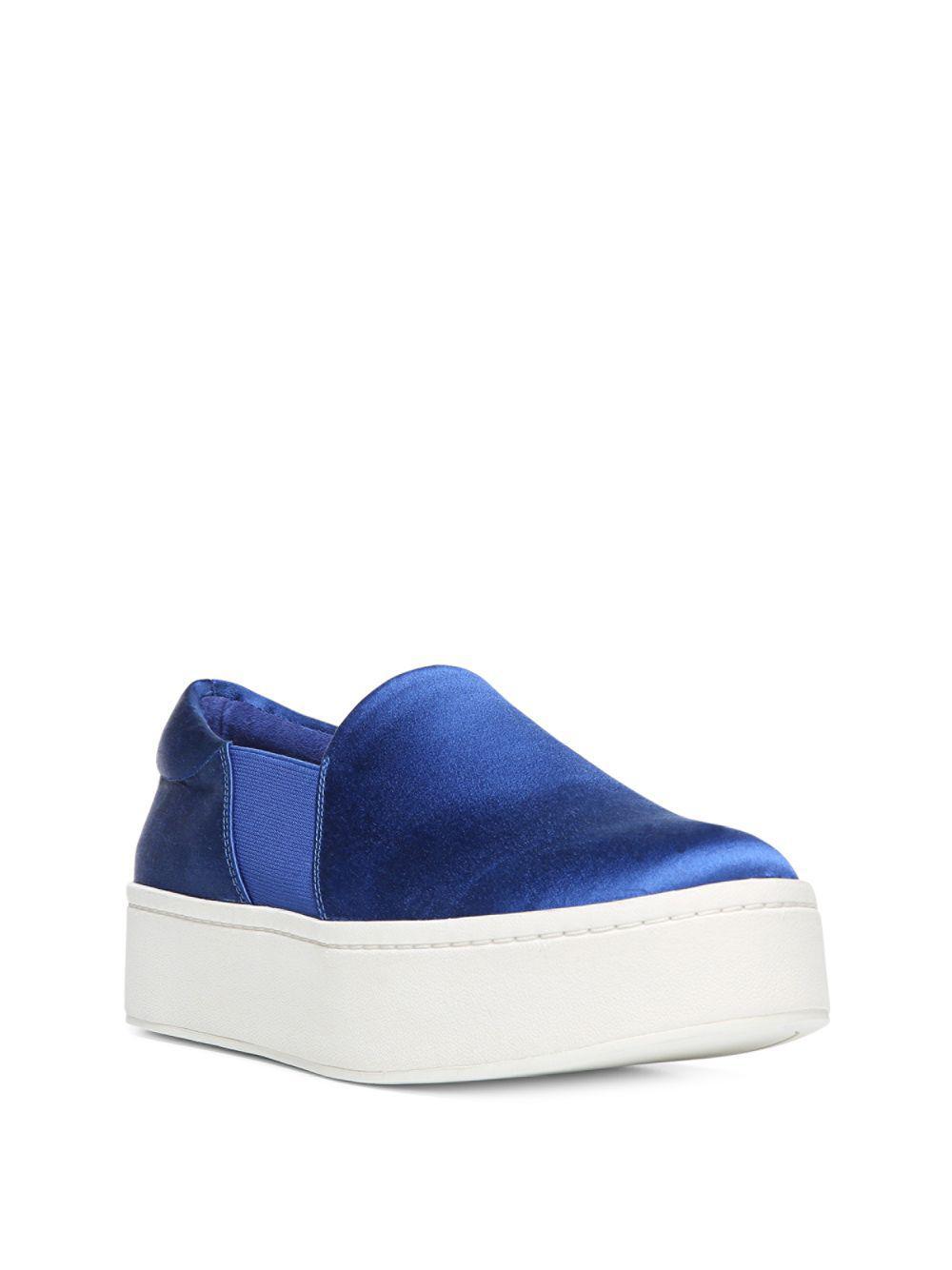 1e72567ef0c Lyst - Vince Warren Satin Platform Skate Sneakers in Blue - Save 41%