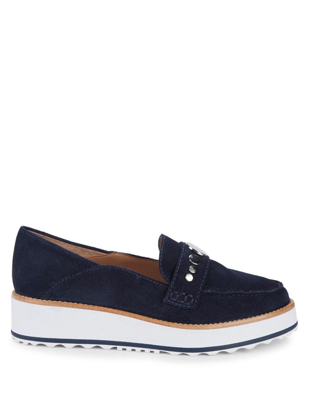 c96825709ea Bernardo - Blue Suede Platform Loafers - Lyst. View fullscreen