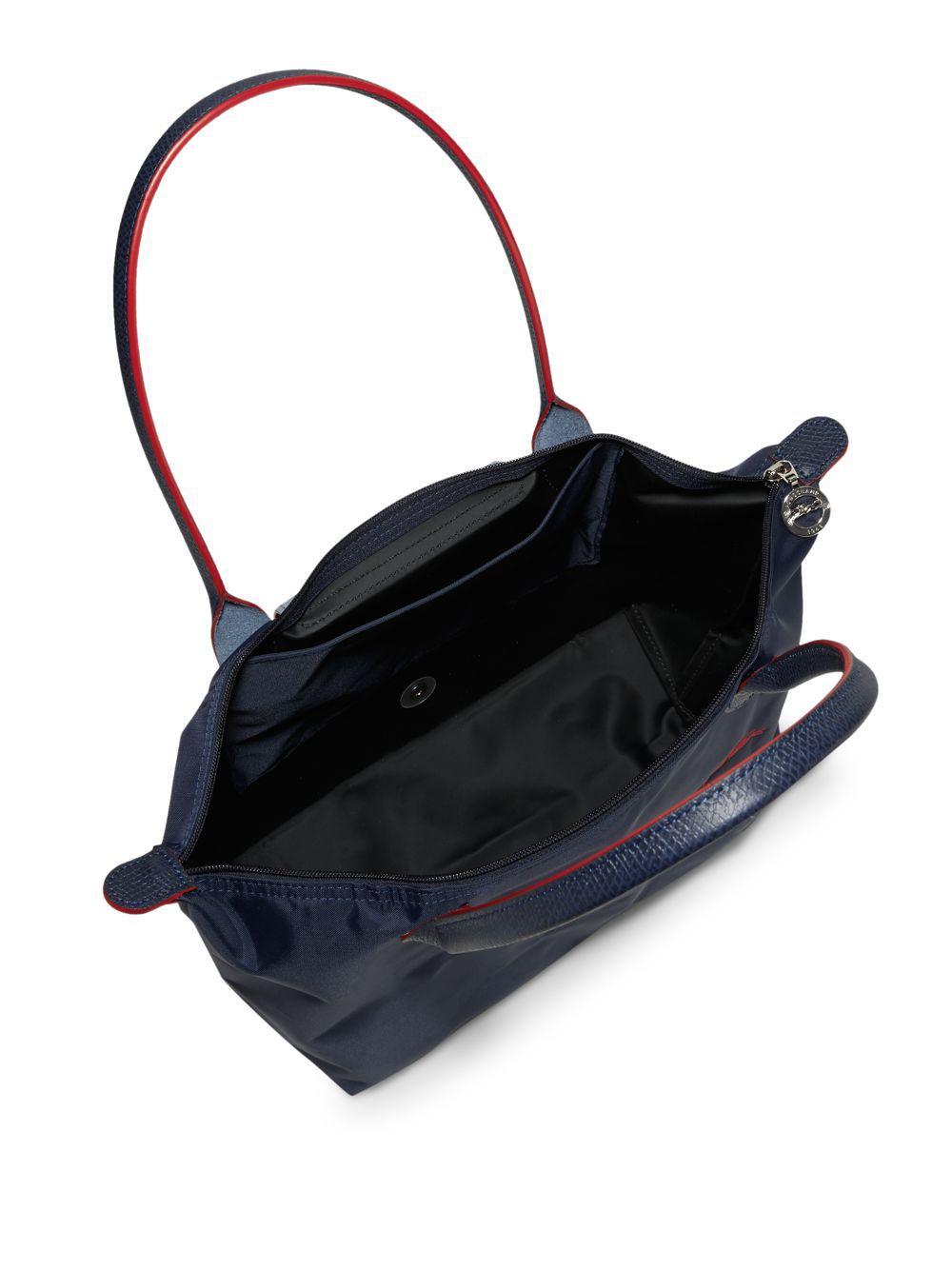 ad0907c40e5f Longchamp Le Pliage Club Tote in Blue - Lyst