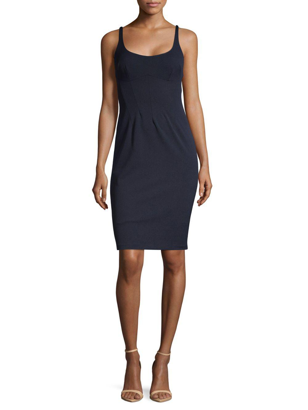 Lyst - Abs By Allen Schwartz Bustier Bodycon Dress in Blue - Save 1%