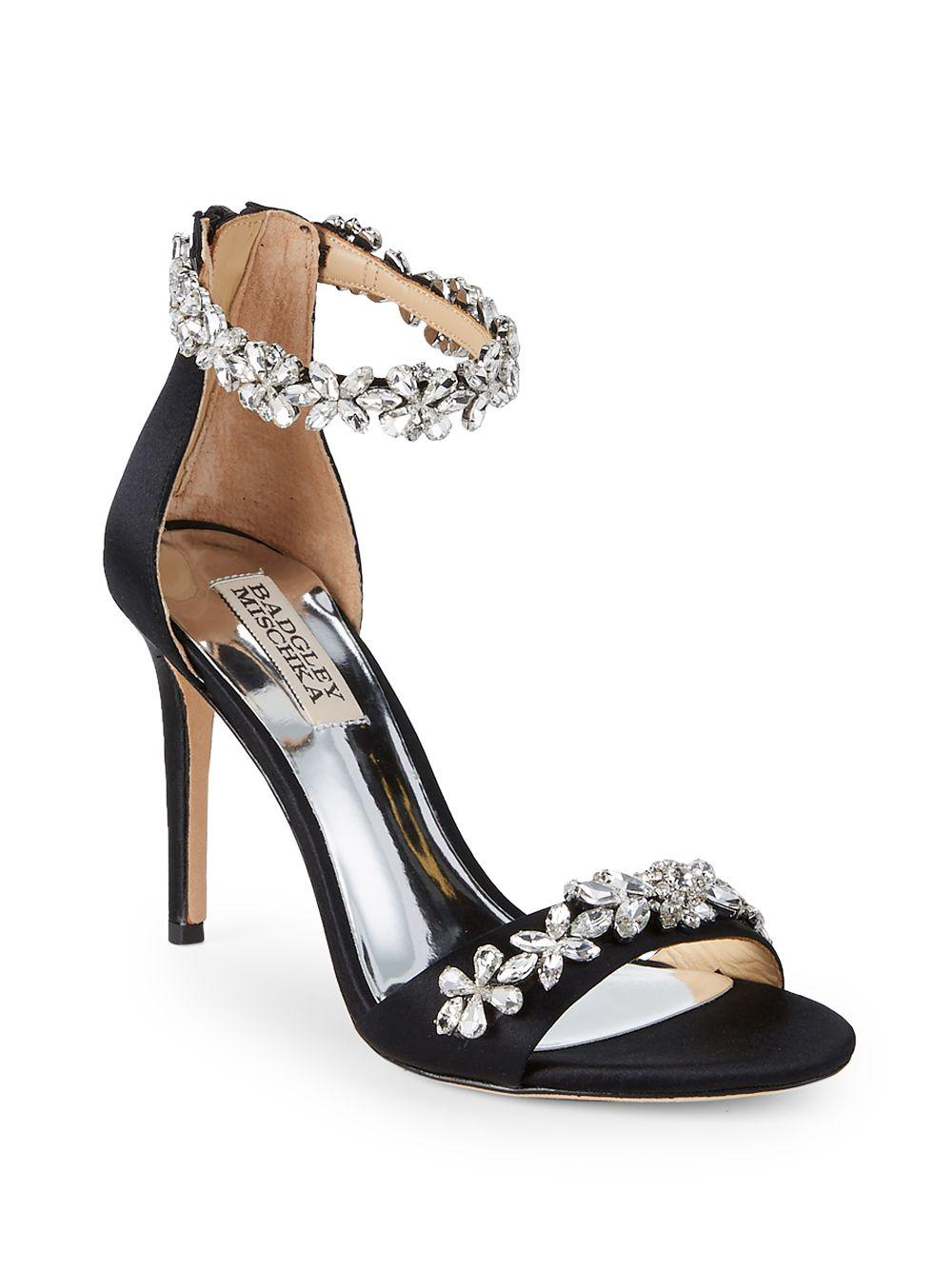 36c932eeffe Badgley Mischka - Black Valentine Embellished Sandals - Lyst. View  fullscreen