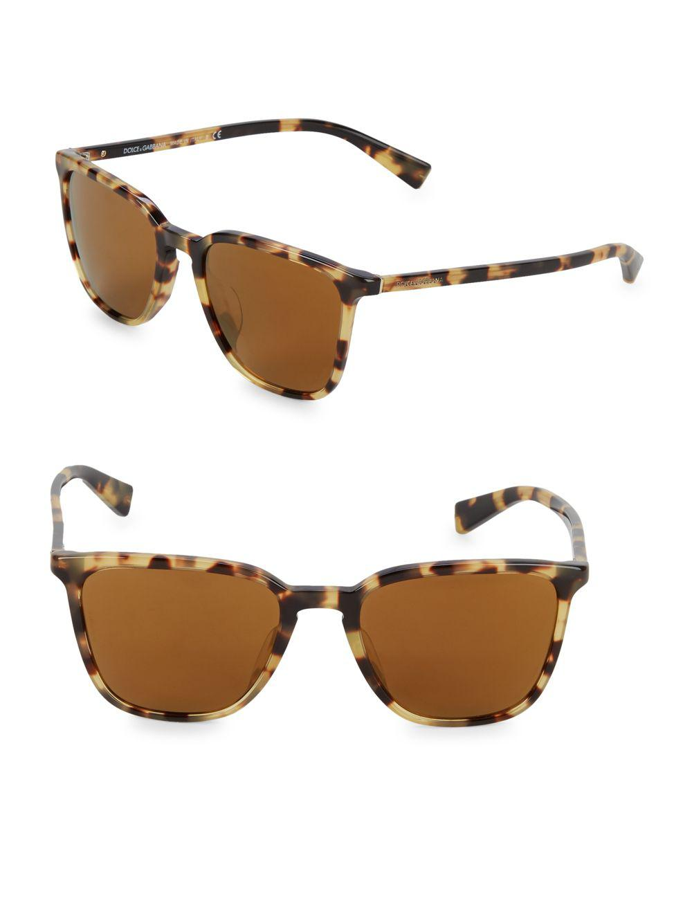 aeda63cc885 Dolce   Gabbana Dg4301f 53mm Cateye Sunglasses in Brown - Lyst