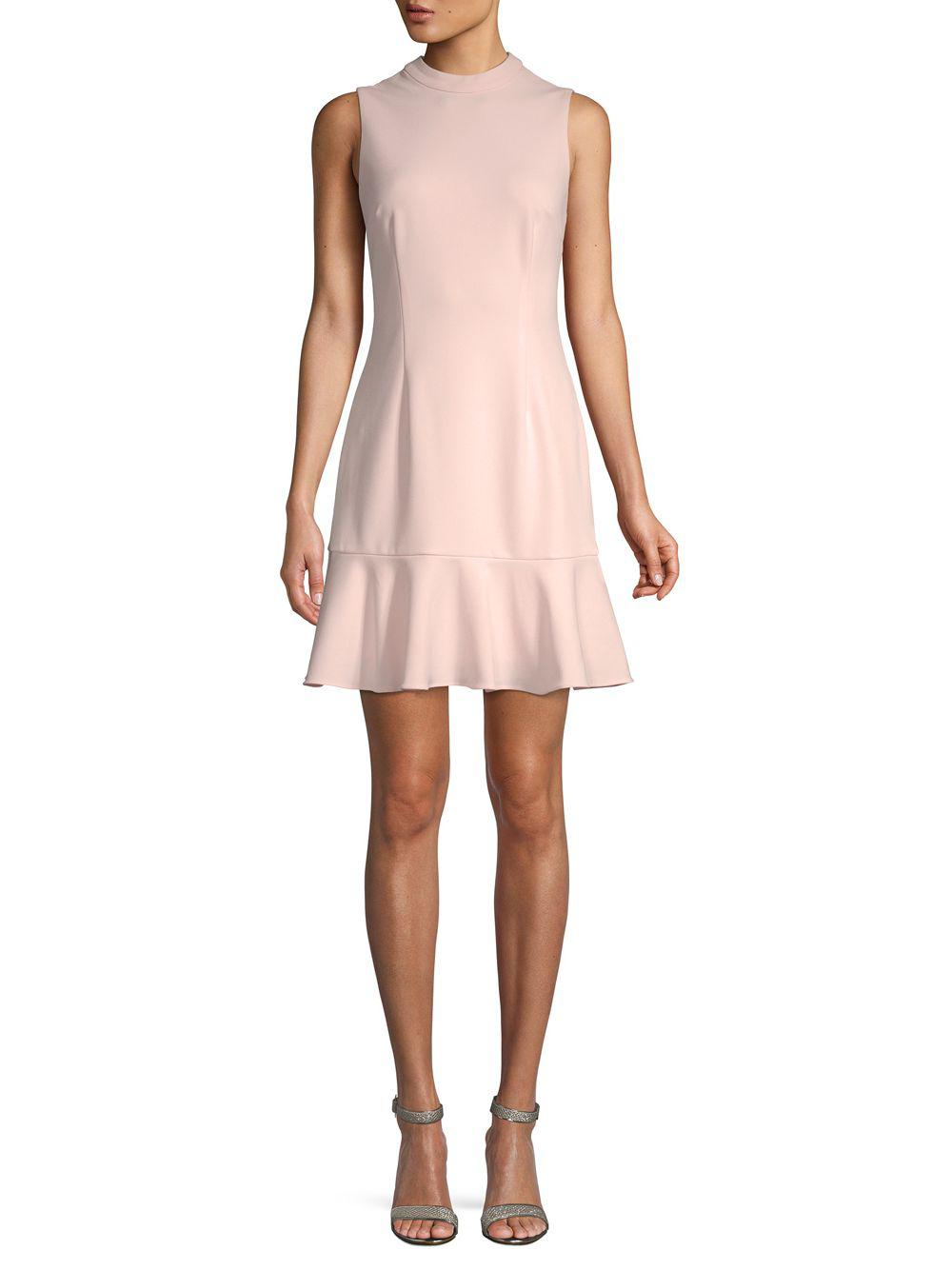 18ae72eafbad Saks Fifth Avenue Black Classic Crepe Fit-&-flare Dress in Pink - Lyst