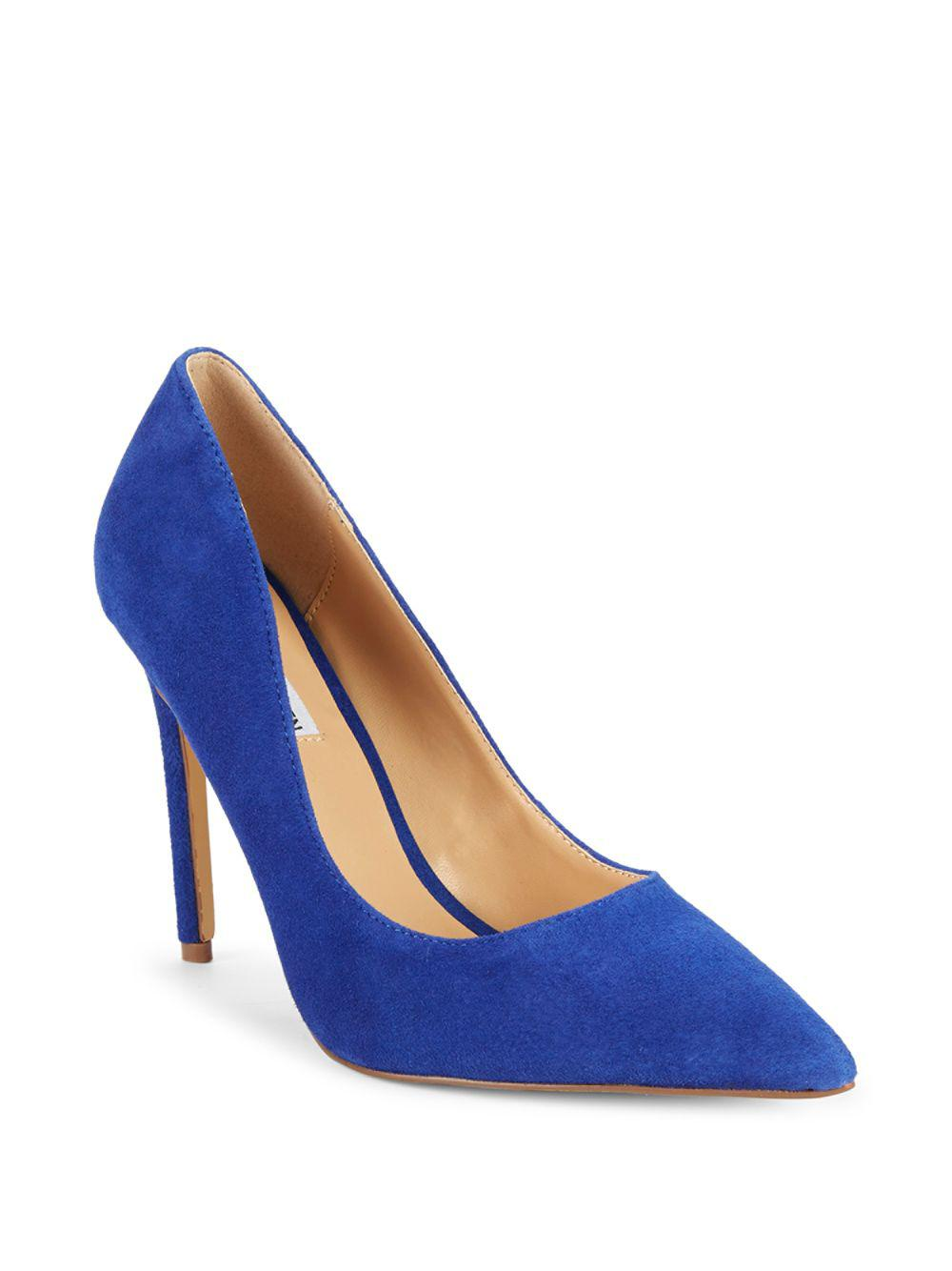 c66c33d8d88 Lyst - Steve Madden Olena Point Toe Pumps in Blue