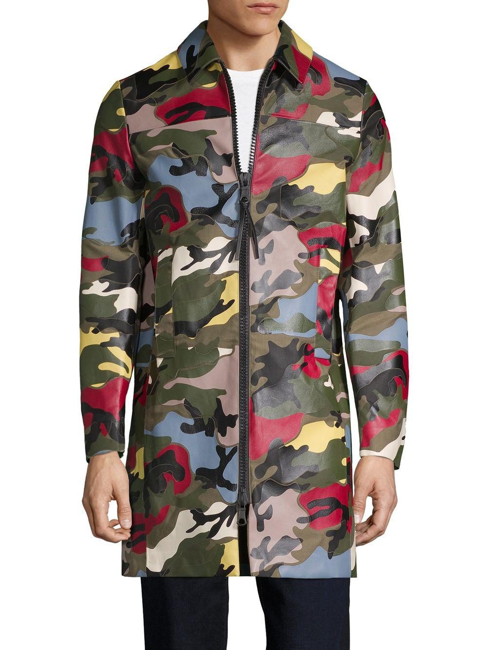 Valentino Multicolored Camouflage Coat in Green for Men - Lyst 1f0ed016196