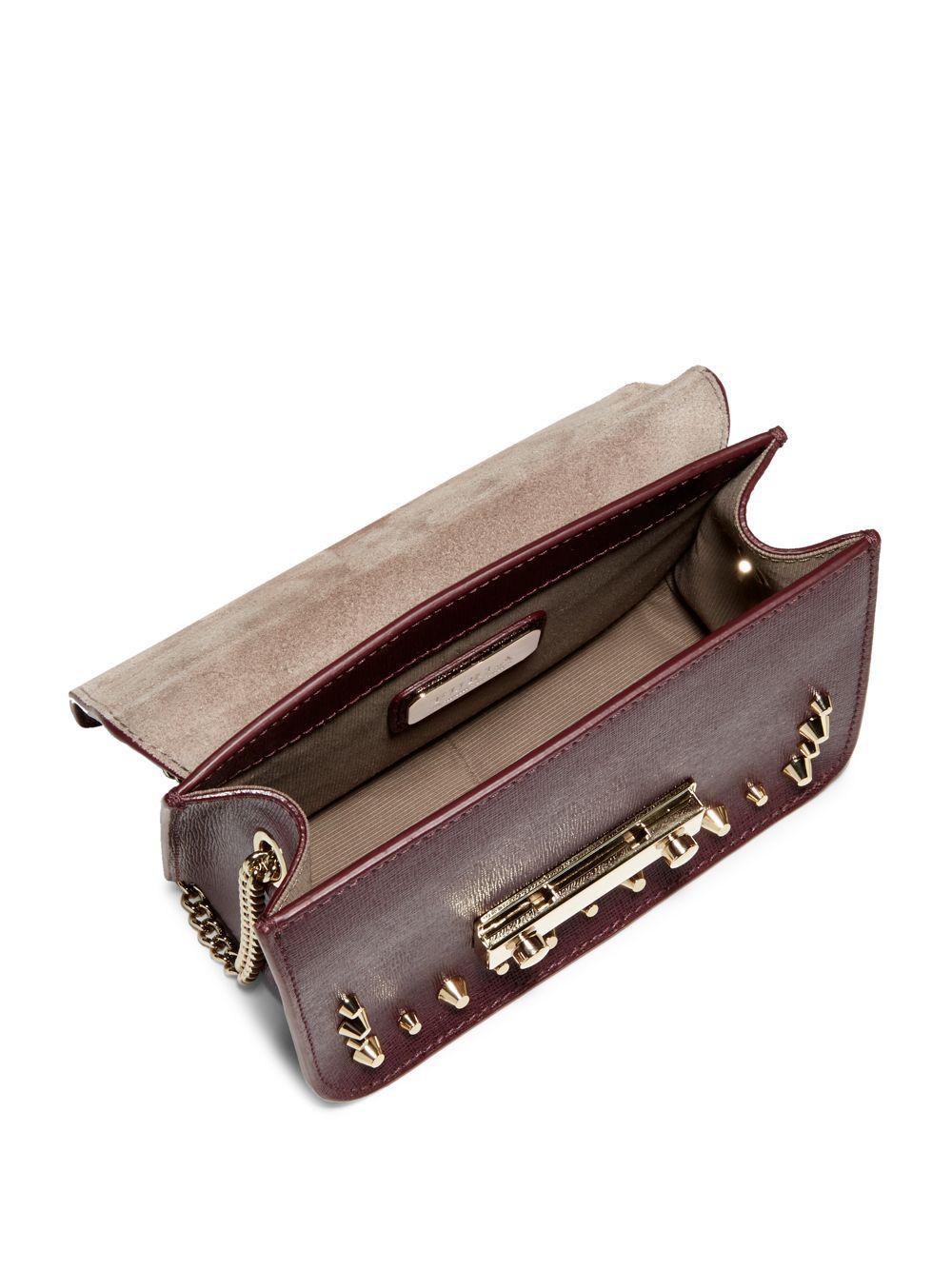 5e9ab01f3bce Furla Julia Mini Leather Crossbody Bag - Lyst