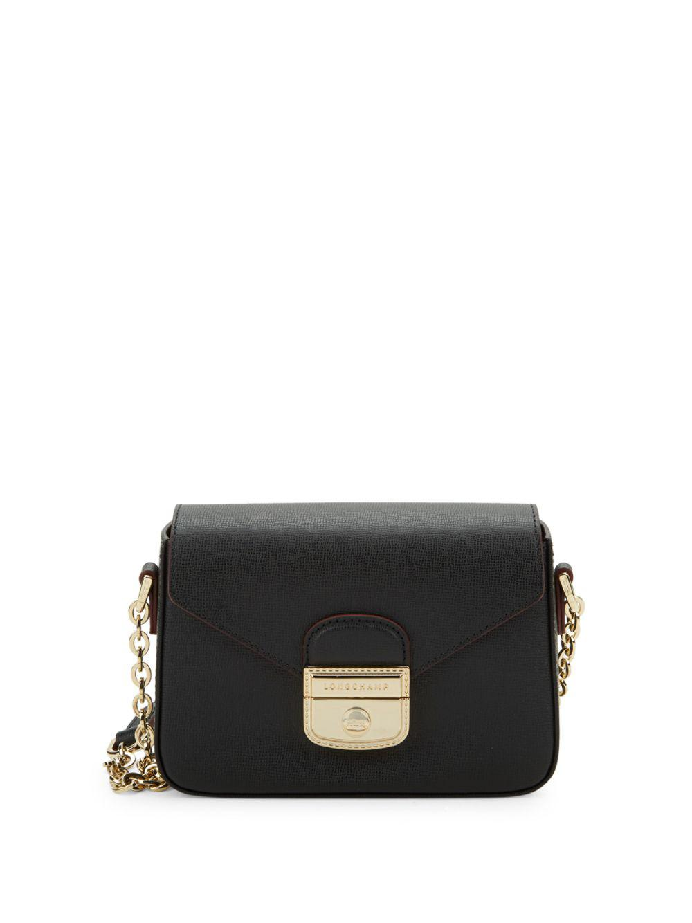 17179dcaa9 Longchamp Le Pliage Heritage Leather Crossbody Bag in Black - Save 5 ...