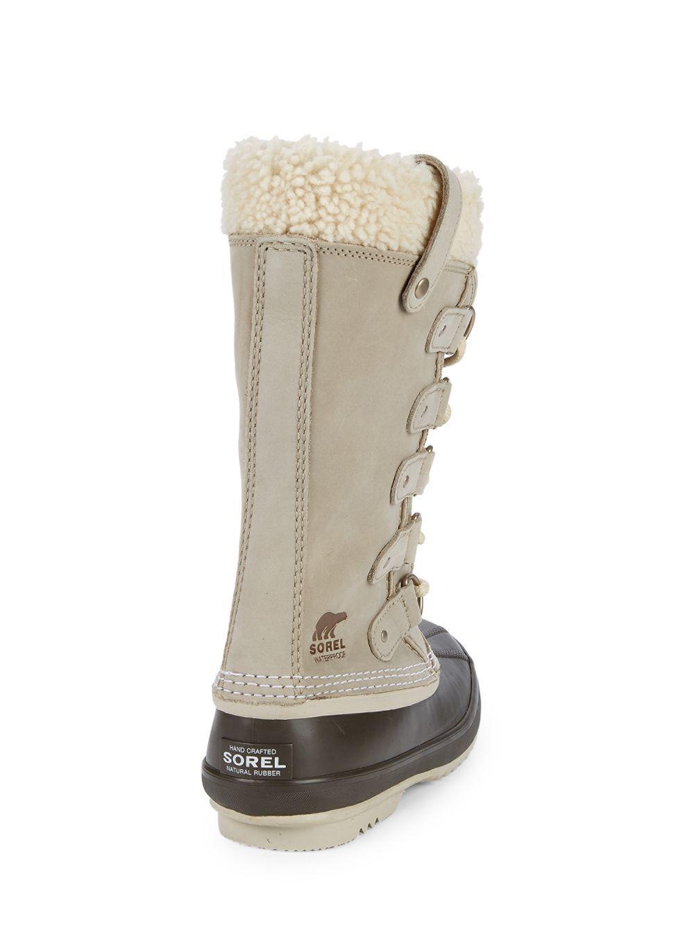 cc8f71d53d49 Lyst - Sorel Joan Of Arctic Faux Fur Trimmed Waterproof Boots