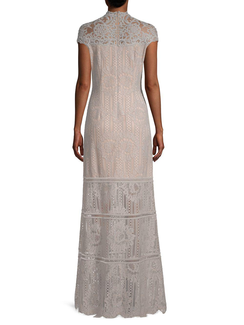 Lyst - Tadashi Shoji Embroidered Mesh Lace Gown