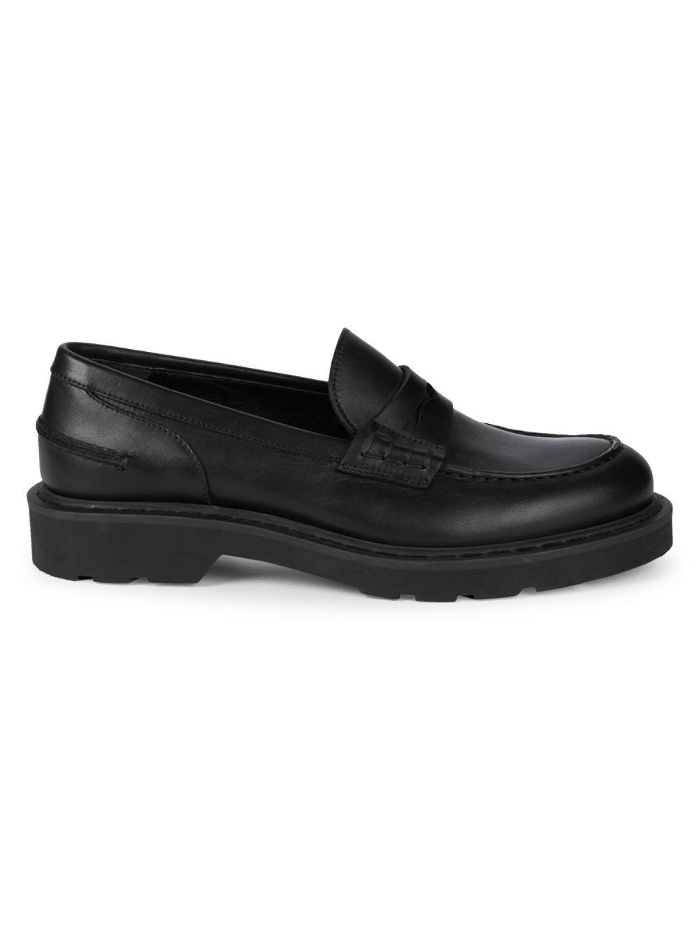 28392760ddf4b Lyst - Alexander McQueen Treaded Leather Loafers in Black for Men