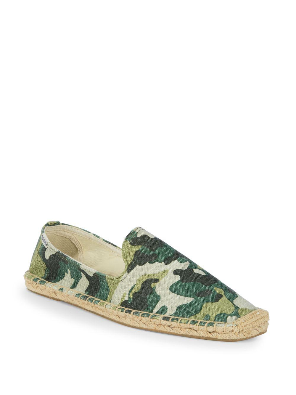 76607909f5398 Soludos Camouflage Smoking Espadrilles in Green - Lyst