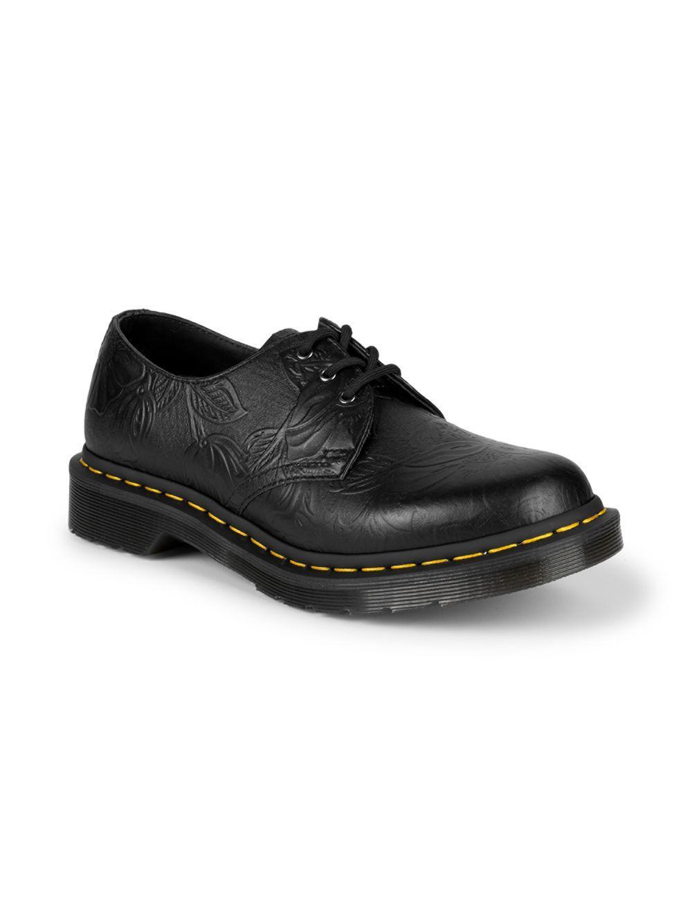 a3e0539bcefa8 Dr. Martens - Black 1461 Floral Embossed Leather Derby Shoes for Men - Lyst.  View fullscreen
